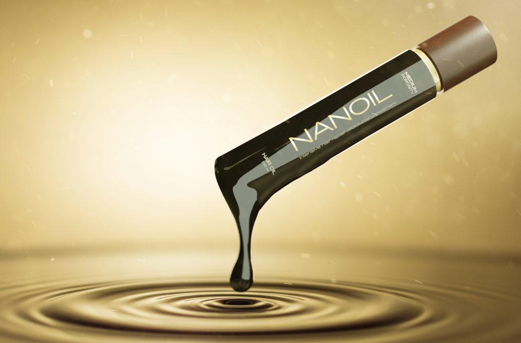 Huile pour cheveux avec applicateur Nanoil